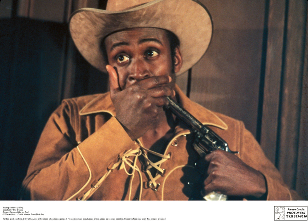 Blazing Saddles (1974) Directed by Mel Brooks Shown: Cleavon Little (as Bart)