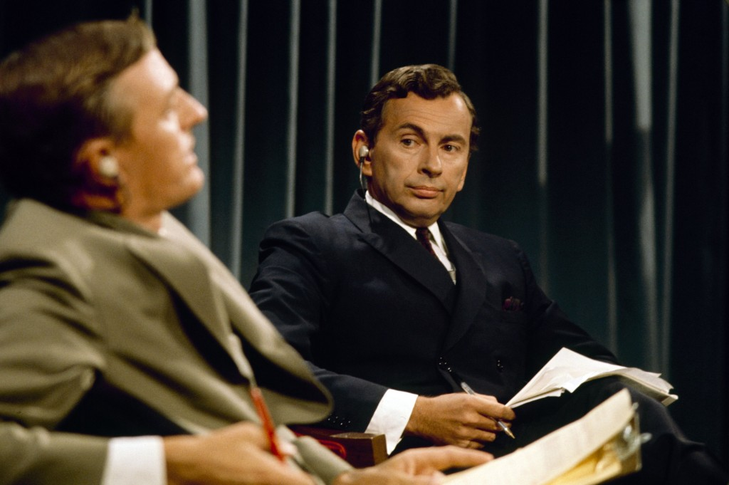"ABC NEWS - ELECTION COVERAGE 1968 - ""Convention Coverage"" - Airdate in August 1968. (Photo by ABC Photo Archives/ABC via Getty Images) WILLIAM BUCKLEY;GORE VIDAL"