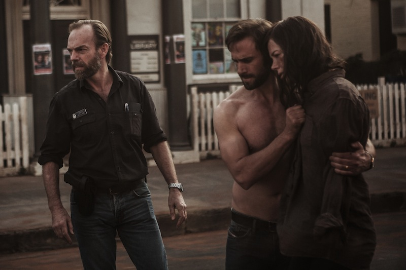 "Parker Pictures Productions presents ""Strangerland"" a Film by Kim Farrant, Starring Nicole Kidman, Joseph Fiennes. Also Starring Hugo Weaving Producers, MacDara Kelleher, Naomi Wenck Exectuive Producers Christopher Woodros, Molly Conners, Richard Payten, Andrew Mackie"