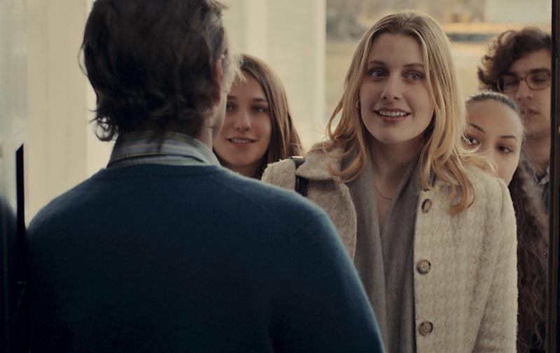 L-R: Tracy (Lola Kirke), Brooke (Greta Gerwig), Nicolette (Jasmine Cephas-Jones), and Tony (Matthew Shear) make a spontaneous visit in MISTRESS AMERICA.