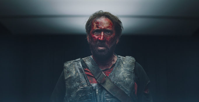 "Nicolas Cage as Red in the action, thriller film ""MANDY"" an ELEVATION Films release. Photo courtesy of ELEVATION Films."