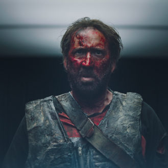 """Nicolas Cage as Red in the action, thriller film """"MANDY"""" an ELEVATION Films release. Photo courtesy of ELEVATION Films."""